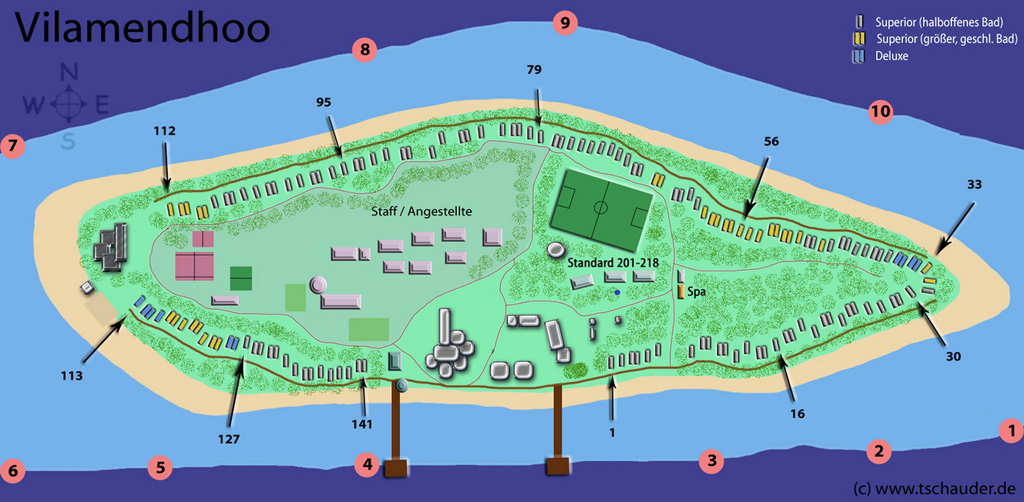 Vilamendhoo Island Resort Touristeninseln Malediven Net